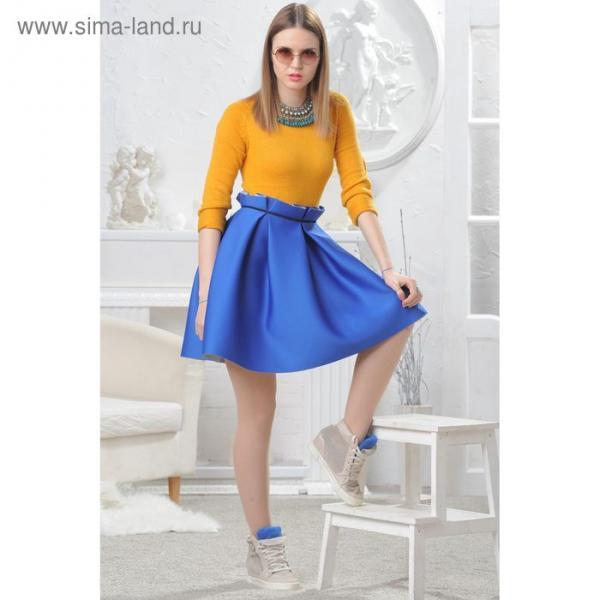 Юбка женская 4574 цвет синий, р-р 46, рост 164 см