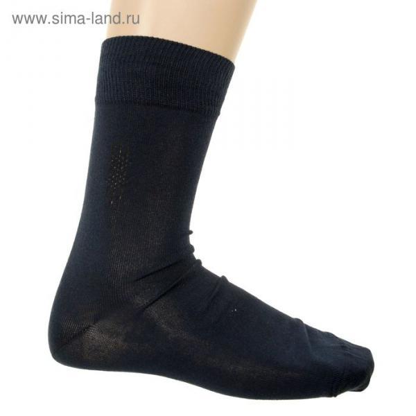 Носки мужские, цвет тёмно-синий, размер 25-27 (разм.обуви 40-42)