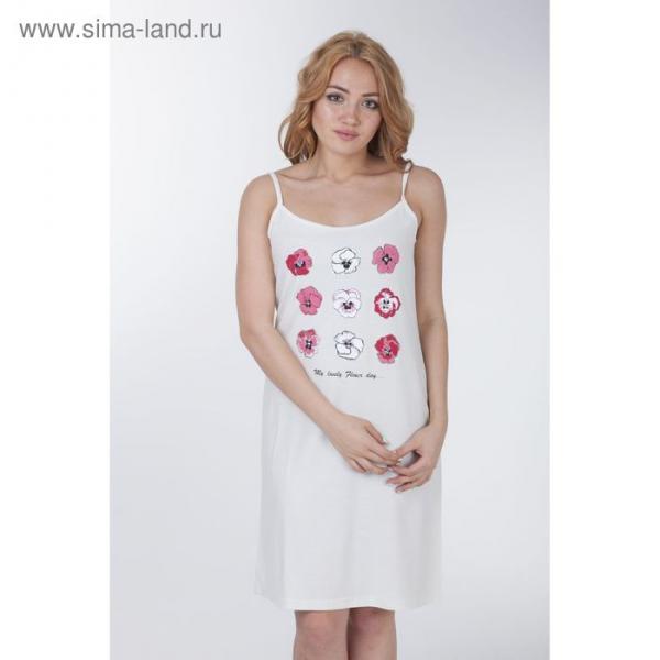 Сорочка женская ночная, цвет молочный, рост 158-164 см, размер 42 (84) вискоза