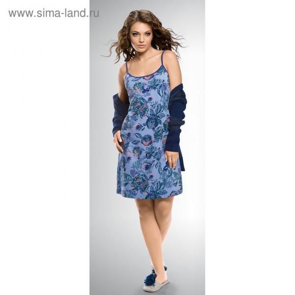 Сорочка женская, размер 42 (XS), цвет синий