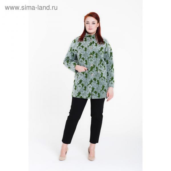 """Пальто женское """"Селена"""" цвет зеленый, р-р 54"""