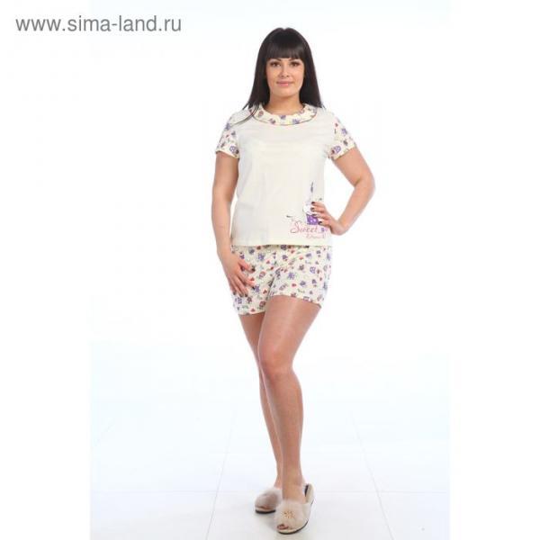 Пижама женская 221ХР1369П экрю, р-р 50 (100)