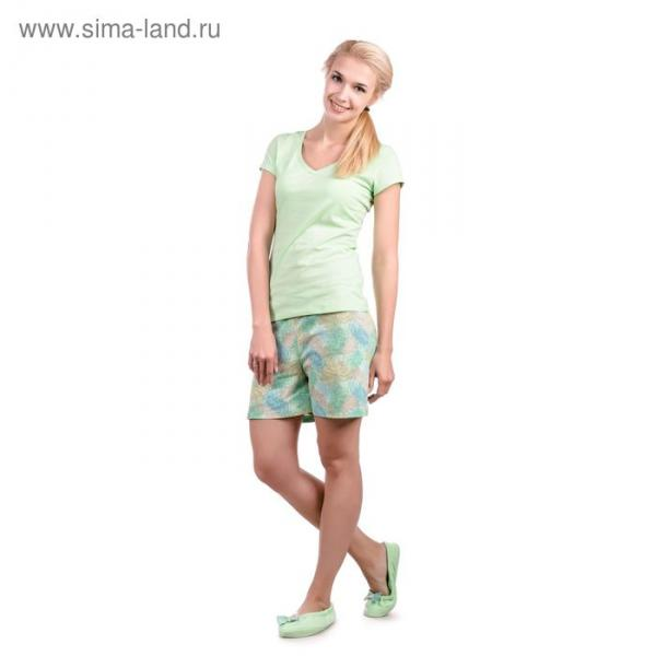 "Пижама женская ""Хризантемы"", цвет салатовый, размер 48 (арт. ML2533/01)"