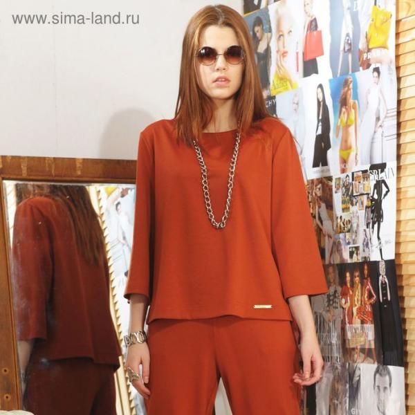 Блуза, размер 44, рост 164 см, цвет кирпичный (арт. 4731)