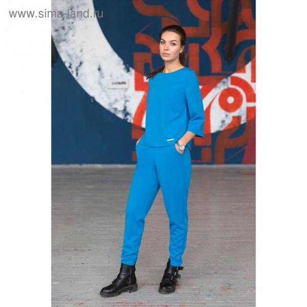 Брюки, размер 44, рост 164 см, цвет голубой (арт. 4730а)