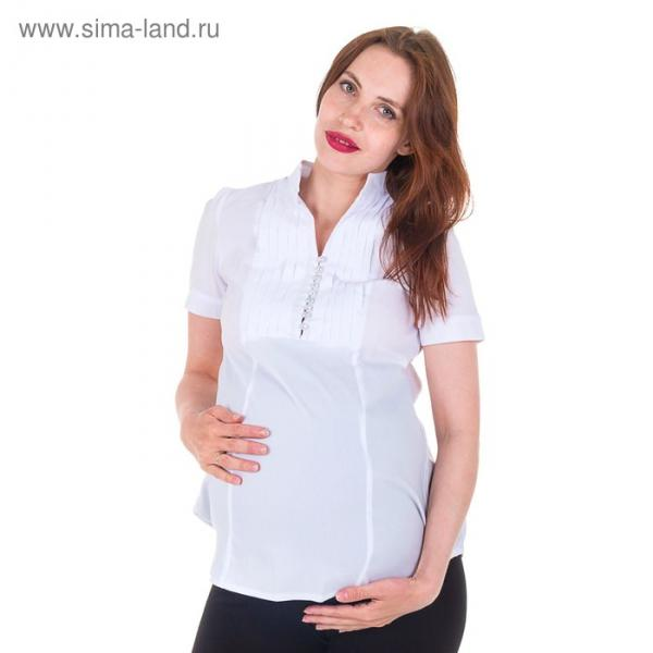 Блузка для беременных 2214, цвет белый, размер 48, рост 170