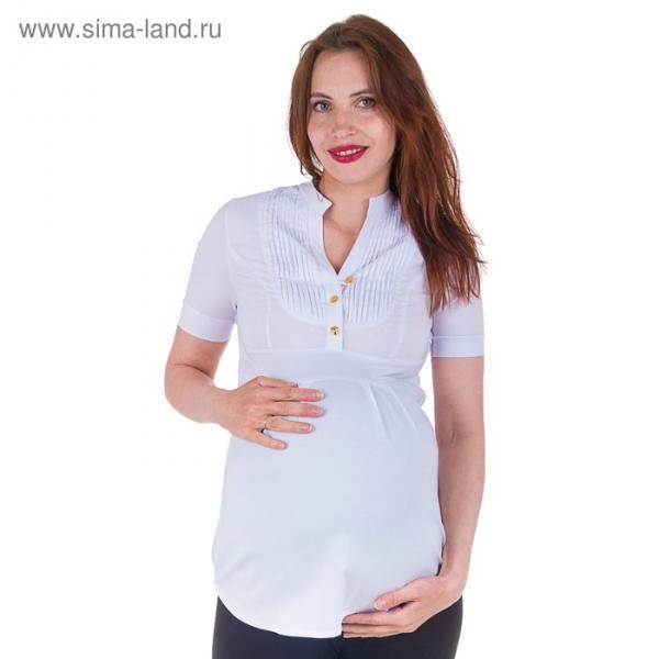 Блузка для беременных 2215, цвет белый, размер 48, рост 170