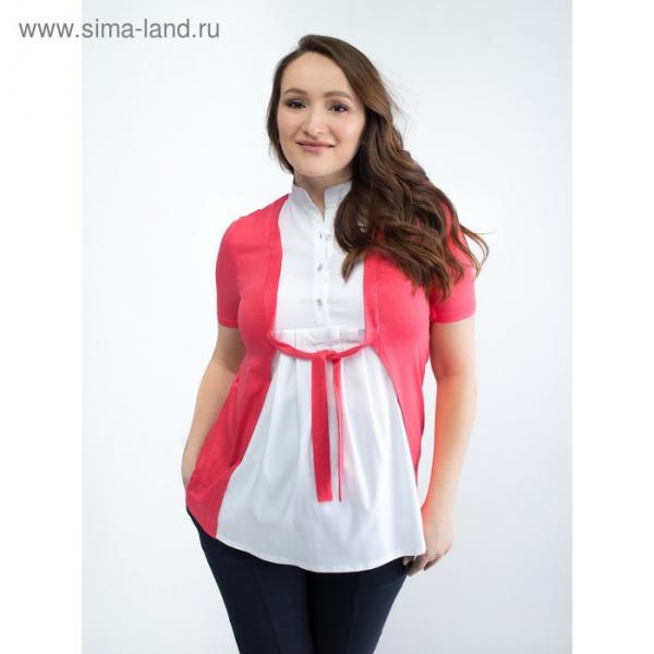 Блузка для беременных 2236, цвет арбуз, размер 50, рост 170