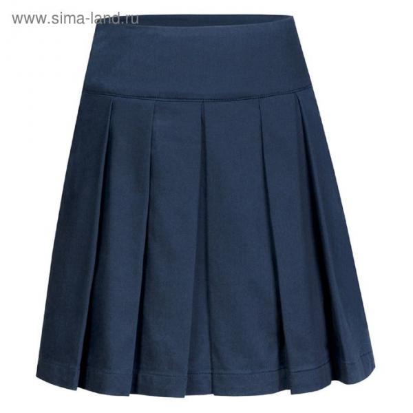 Юбка для девочек, рост 140-146 см, возраст 10 лет, цвет синий