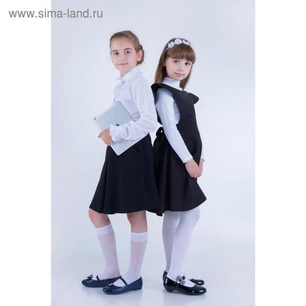 Юбка для девочек, рост 134-140 см, возраст 9 лет, цвет чёрный