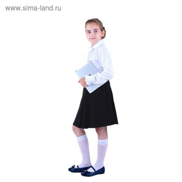 Юбка для девочек, рост 158-164 см, возраст 13 лет, цвет чёрный