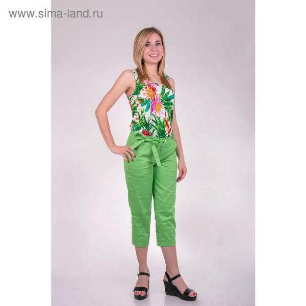 Бриджи женские T15-573 цвет салатовый, размер  S(44)