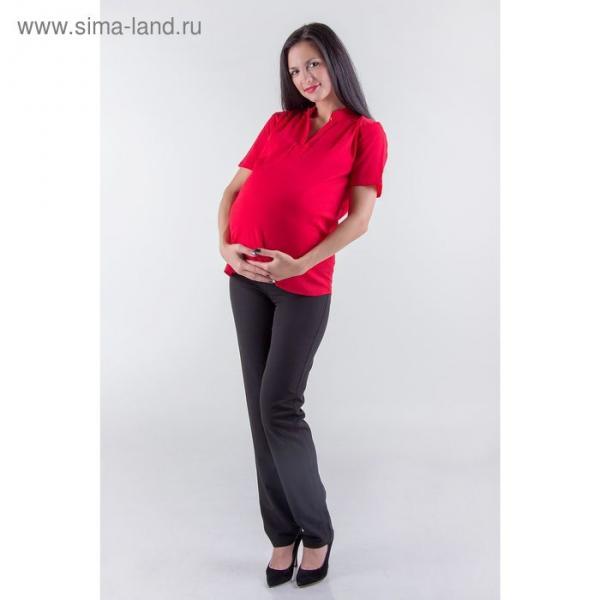 Блузка женская для беременных, размер 48, рост 168, цвет красный (арт. 0307)