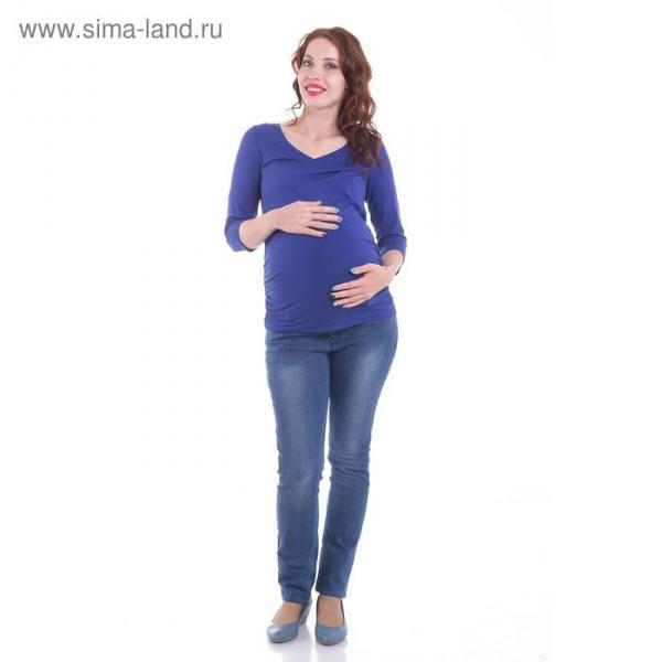 Топ для беременных, размер 46, рост 168 см, цвет темно-синий (арт. 371411613)