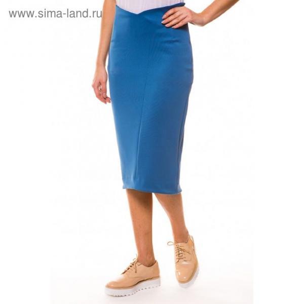 Юбка женская, размер 48, цвет голубой (арт. 4075)