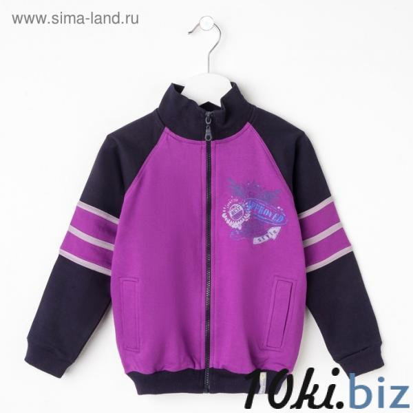 Куртка для мальчика, рост 116 см (60), цвет лиловый/тёмно-синий Куртки демисезонные для мальчиков на Электронном рынке Белоруссии
