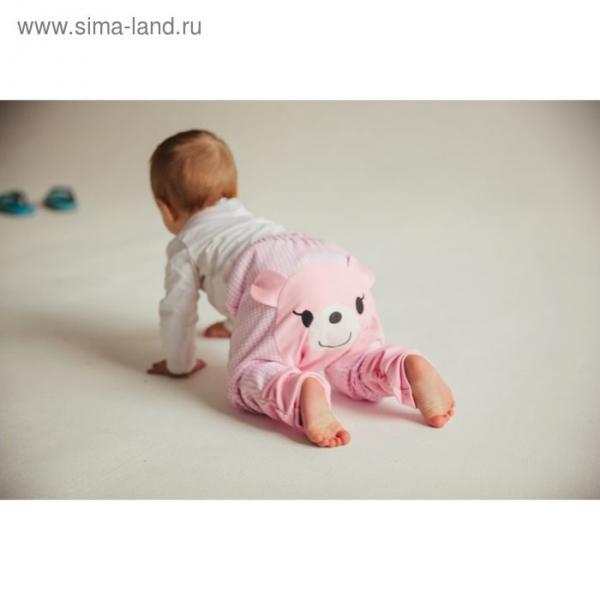Штанишки Yuumi Мишка, рост 92-98 см, цвет розовый