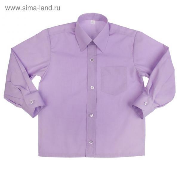Сорочка для мальчика, рост 86 см (25), цвет сиреневый 181_М