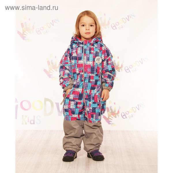 """Комбинезон для девочки """"МИЛА"""", рост 92 см (52), принт розовый КМ21117-11_М"""