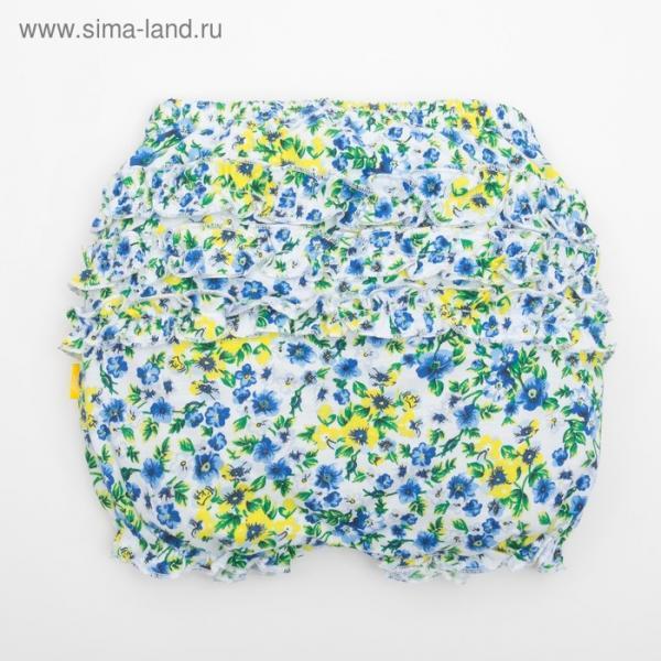"""Шорты для девочки """"Полевые цветы"""", рост 74 см (48), принт полевые цветы"""