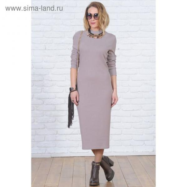 Платье 6103б цвет бежевый, р-р 44, рост 164 см