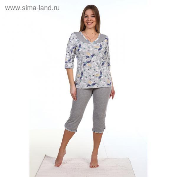 Пижама женская (джемпер, бриджи) ПК16 МИКС, размер 46