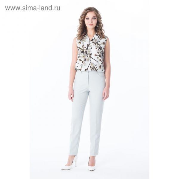 Брюки женские, цвет светло-серый, размер 48, рост 170 см