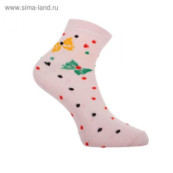 Носки женские высокие, цвет розовый, размер 23