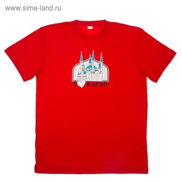 """Футболка """"Казань"""", красн р-р XL(52), 100% хл"""