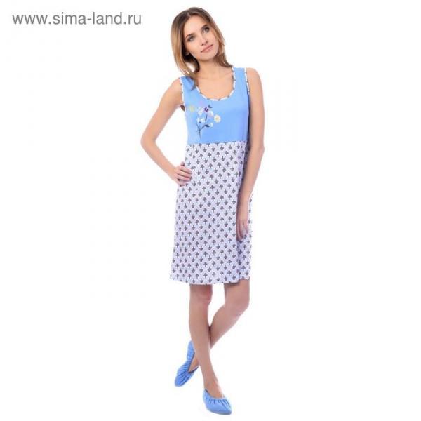 Сорочка женская MK2748/01 цвет голубой, р-р 44, рост 158-164
