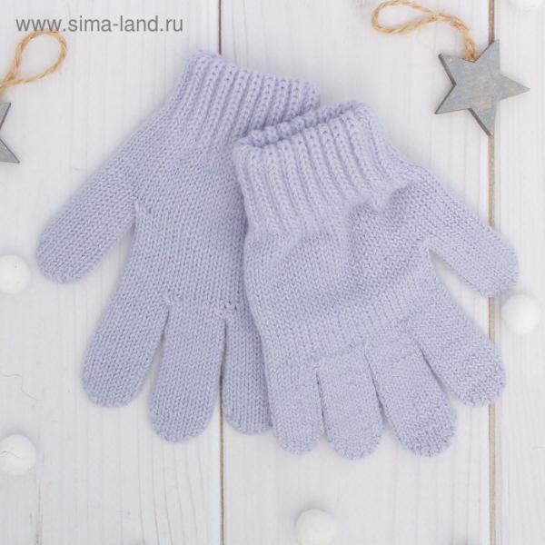 Перчатки одинарные детские, размер 12, цвет сиреневый 6с177/2_М