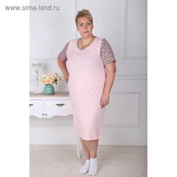 Сорочка женская 130 цвет розовый, р-р 54