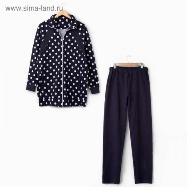 Комплект женский (кофта,брюки) ТК-452 цвет синий, р-р 52