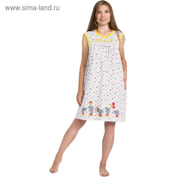Сорочка женская 118 цвет МИКС, р-р 52