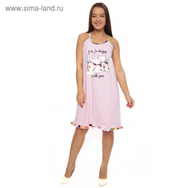 Сорочка женская 113 цвет МИКС, р-р 44