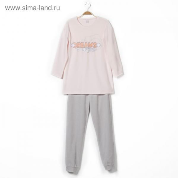 Комплект женский (джемпер, брюки), цвет светло-розовый, рост 158-164, размер 52
