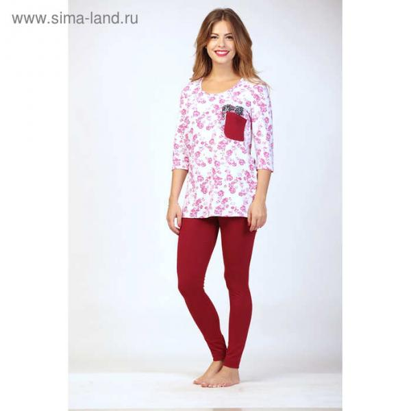 Комплект женский (джемпер, легинсы), цвет малина, размер 46