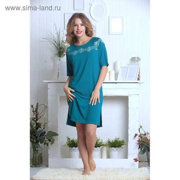 Сорочка женская 881-10 цвет зелёный, р-р 44 вискоза