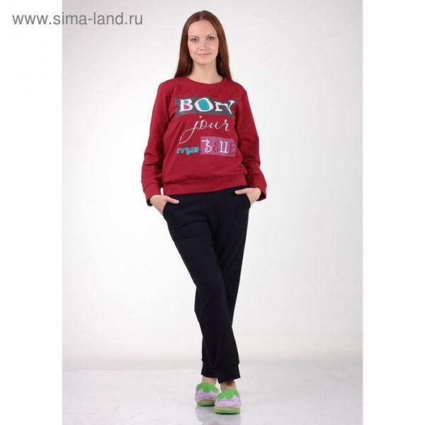 Толстовка женская 2188 цвет бордовый, р-р 48