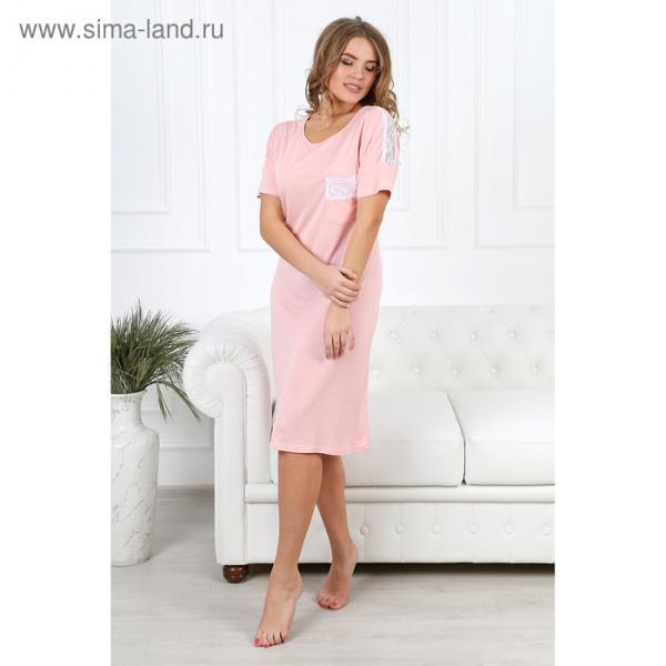 Сорочка женская Жемчужина-1 цвет розовый, р-р 54 вискоза