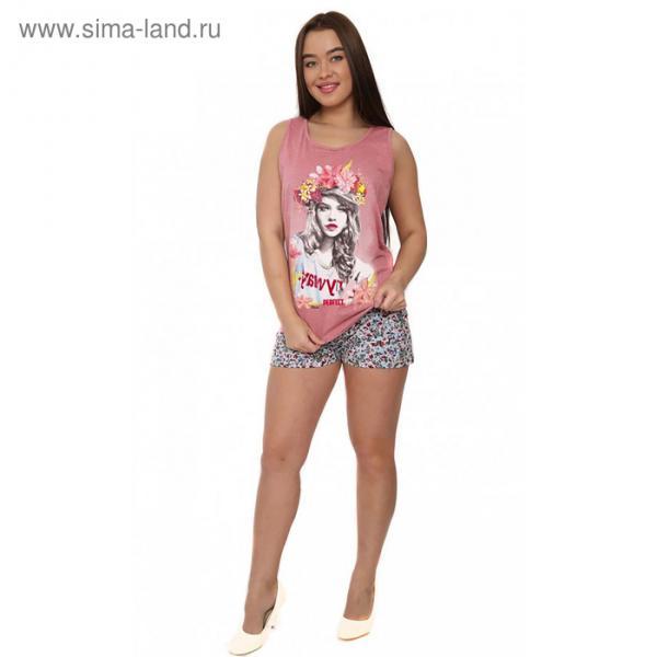 Комплект женский (майка, шорты) М173 цвет МИКС, р-р 52