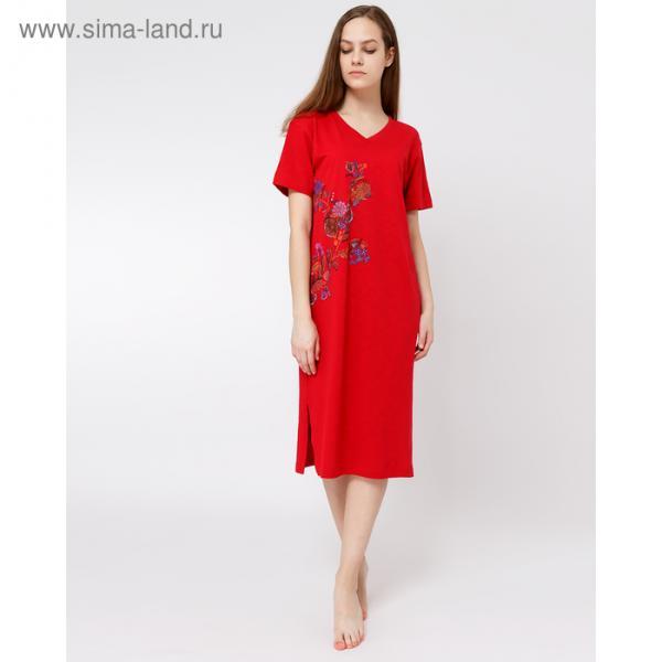 Сорочка женская 2836-0 (572326) цвет алый, р-р 46 (M)