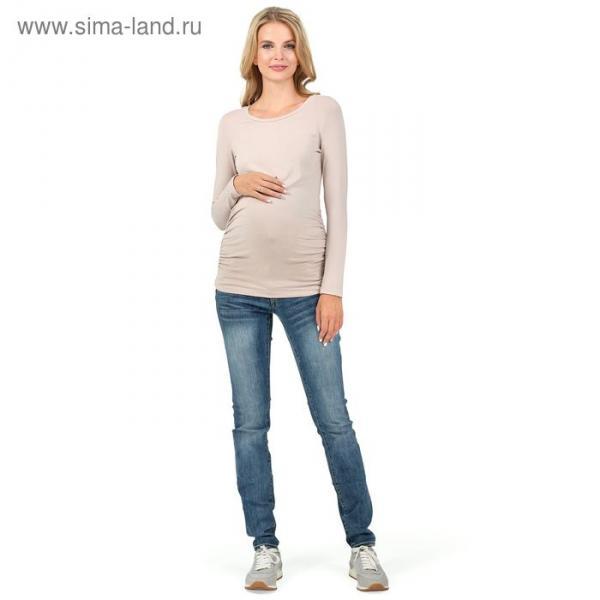 """Джемпер женский """"Майя"""" для беременных, 100219 цвет бежевый, р-р 44"""