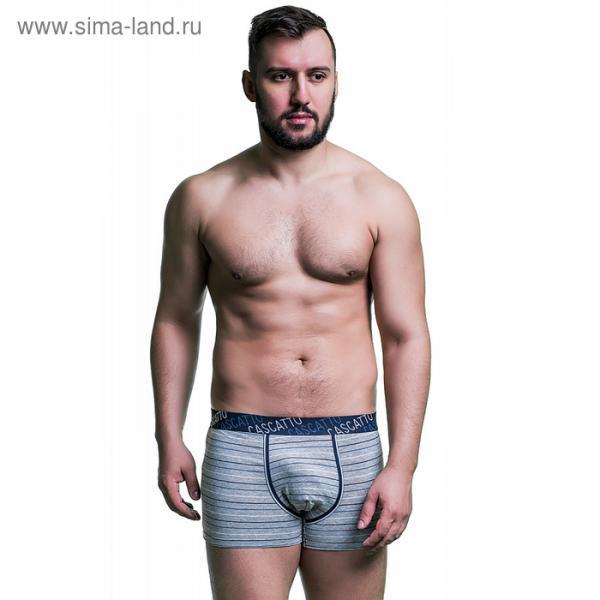Трусы мужские боксеры BXM131 цвет серо-синий меланж, р-р 46 (M)