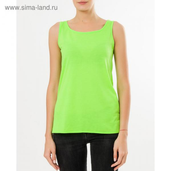 Майка женская спортивная, цвет салатовый неон, размер 42 (XS)