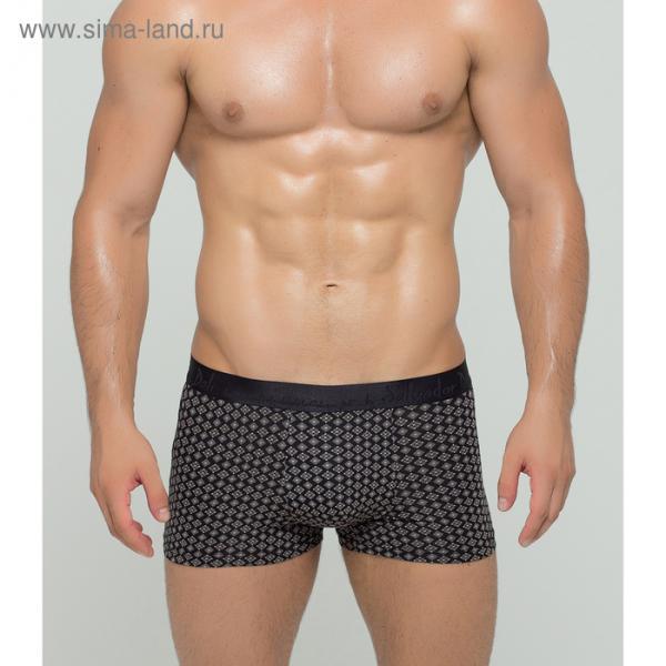 Трусы мужские боксеры SD2015-1 цвет чёрный, р-р 46-48 (M)
