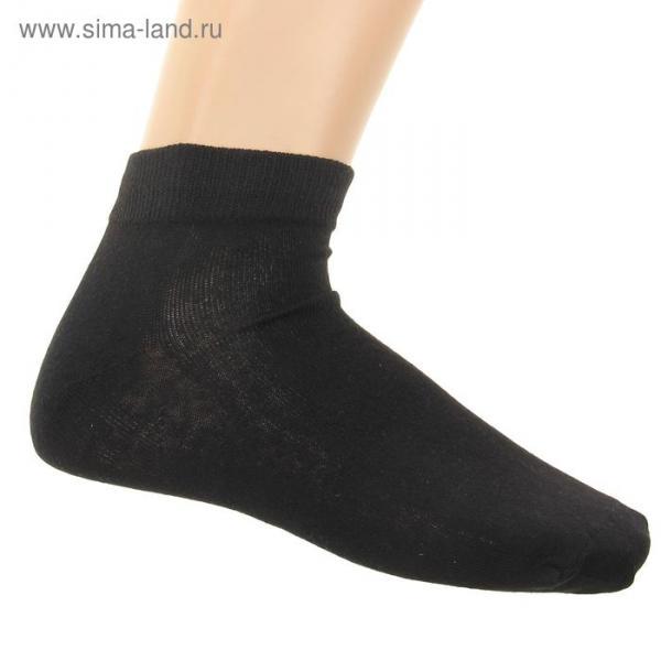 Носки женские спортивные M-436 цвет чёрный, р-р 23
