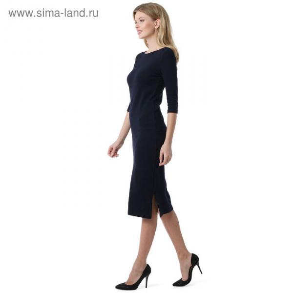 Платье для беременных 100841 цвет синий, р-р 48