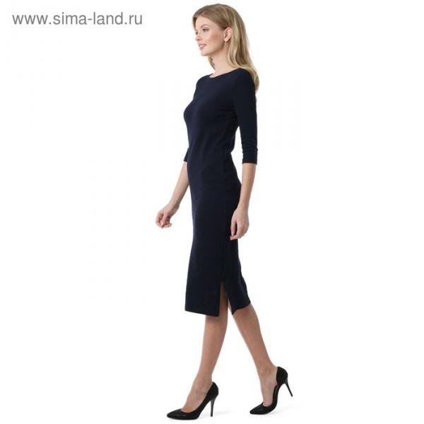 Платье для беременных 100841 цвет синий, р-р 50