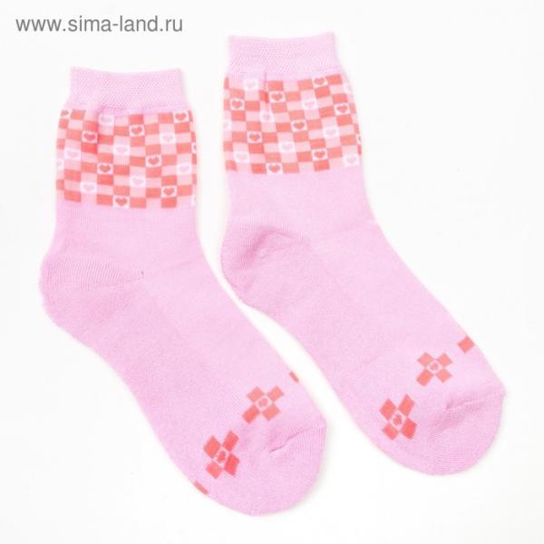 Носки женские махровые, цвет светло-розовый, размер 23-25